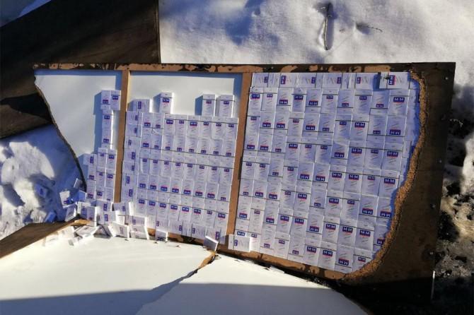 Van Gürpınar'da gümrük kaçağı sigara operasyonu