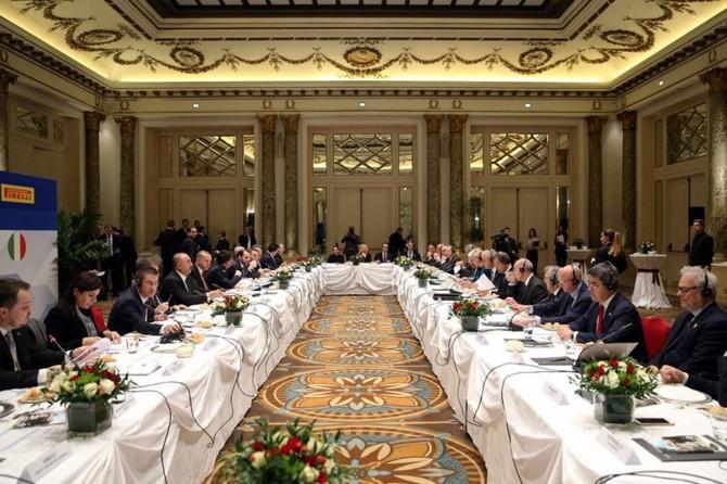 Cumhurbaşkanı Erdoğan İtalyan şirketlerinin yöneticilerini kabul etti