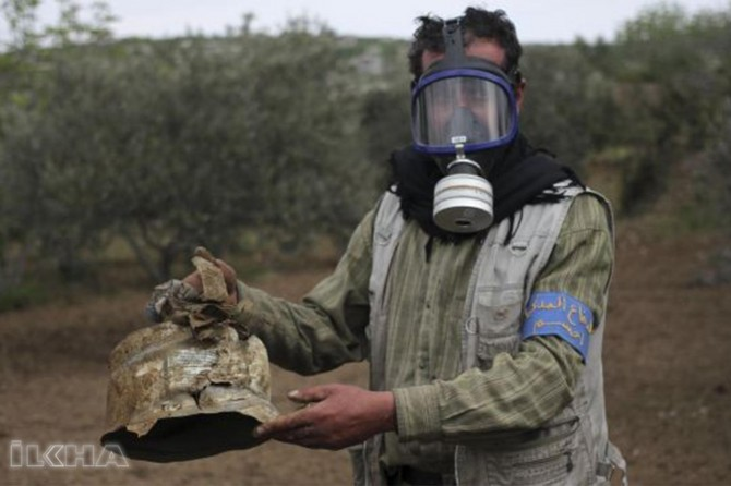 "Idlib claims ""poisonous gas was used"""