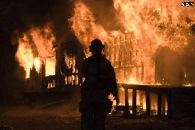 Parfüm fabrikasında yangın çıktı