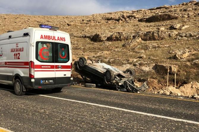 Mardin'de trafik kazası: Bir yaralı