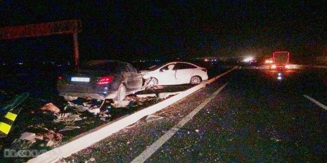 AK Parti MKYK üyesi Alkış ve ailesi Çınar'da trafik kazası geçirdi VİDEO-FOTO