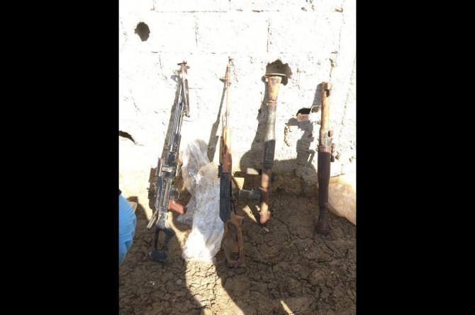 Siirt'te PKK'ye ait mühimmat ele geçirildi