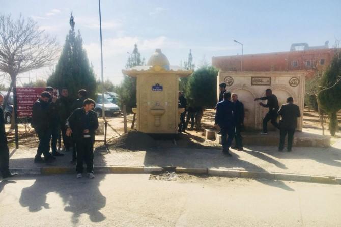 Kızıltepe Belediyesinden hastane bahçesine çorba çeşmesi