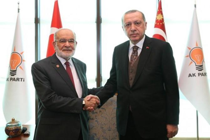 Erdoğan Karamollaoğlu'nu kabul etti