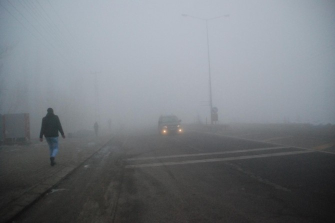 Ağrı'da yoğun sis etkili oldu