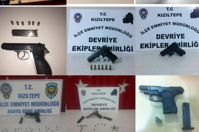 Mardin'de ruhsatsız tabancalar ele geçirildi