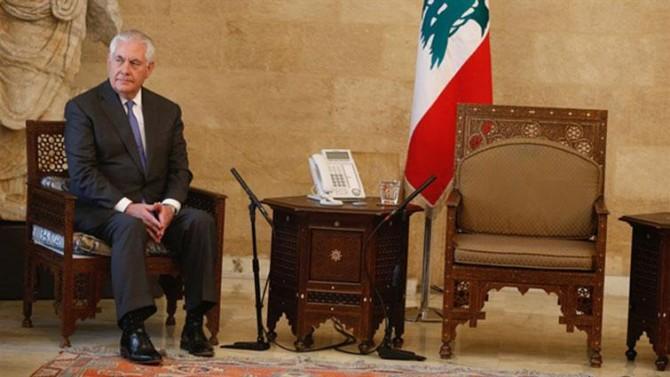 """Tillerson Lübnan'da """"soğuk"""" karşılandı"""