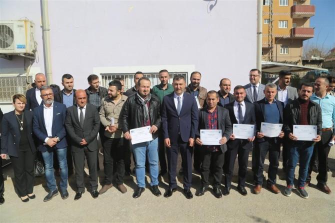 Silopi'de 150 kişiye girişimci sertifikası verildi