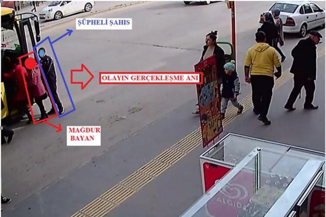 Gaziantep'te otobüslerde yankesicilik yapan şüpheli tutuklandı
