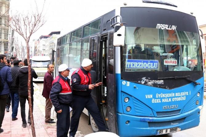 Otobüs ve minibüsler denetlendi