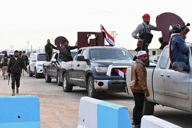 Hêzên terefdarên hikûmeta Sûrîyê têketin Efrînê
