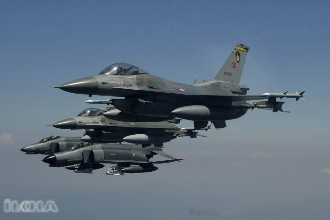 Turkiye's jets strike on the convoy entering area