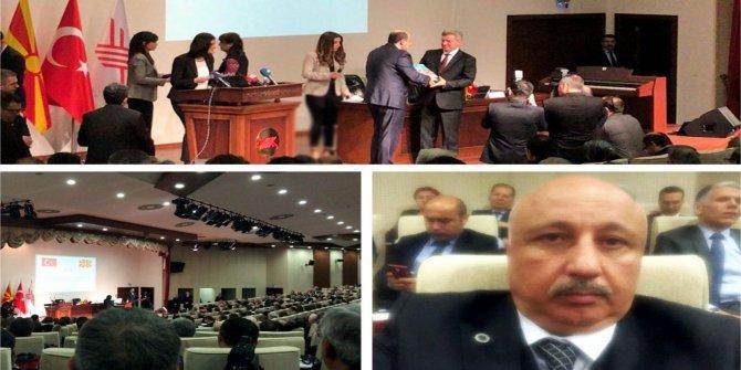 Durmuş Makedonya Cumhurbaşkanının verdiği konferansa katıldı