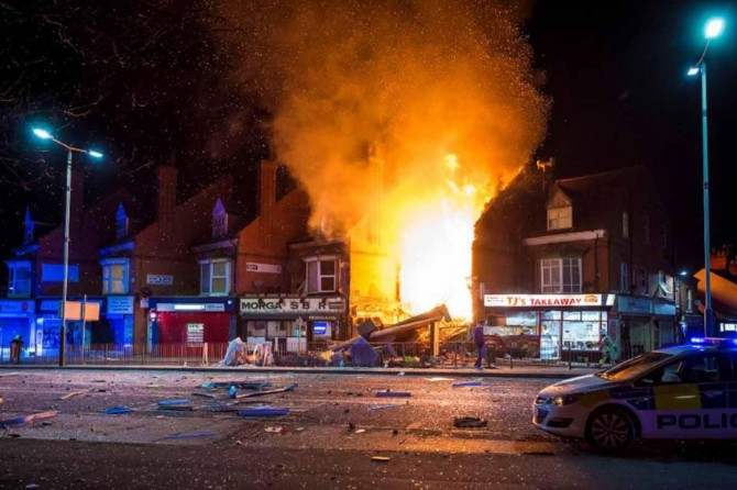 İngiltere'de patlama: 4 yaralı