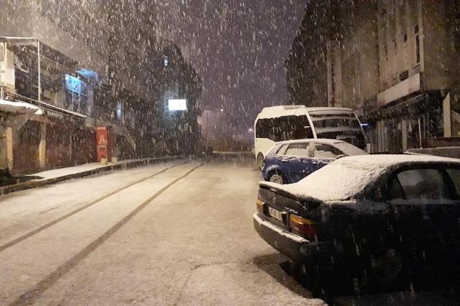 Muş'ta kar yağışı