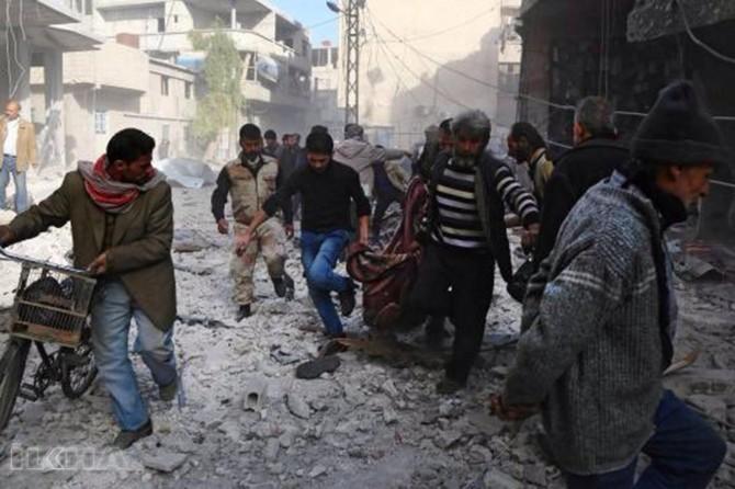 Air strikes continue on Eastern Ghouta