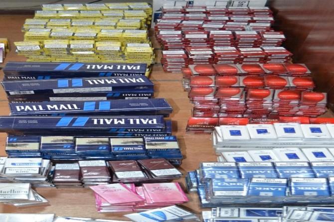 Siirt'te gümrükkaçağı sigara satıcılarına yönelik operasyon