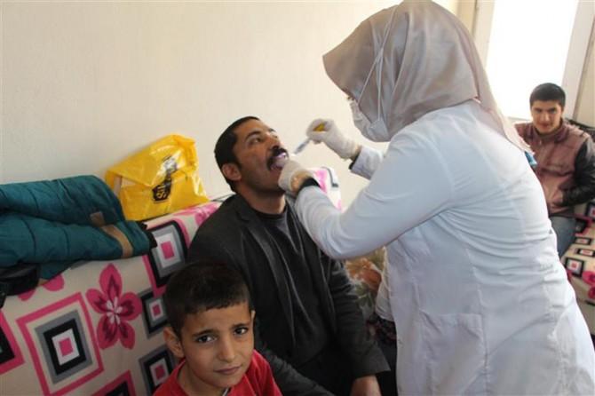 Engelli öğrencilerin ağız ve diş bakımı yapıldı