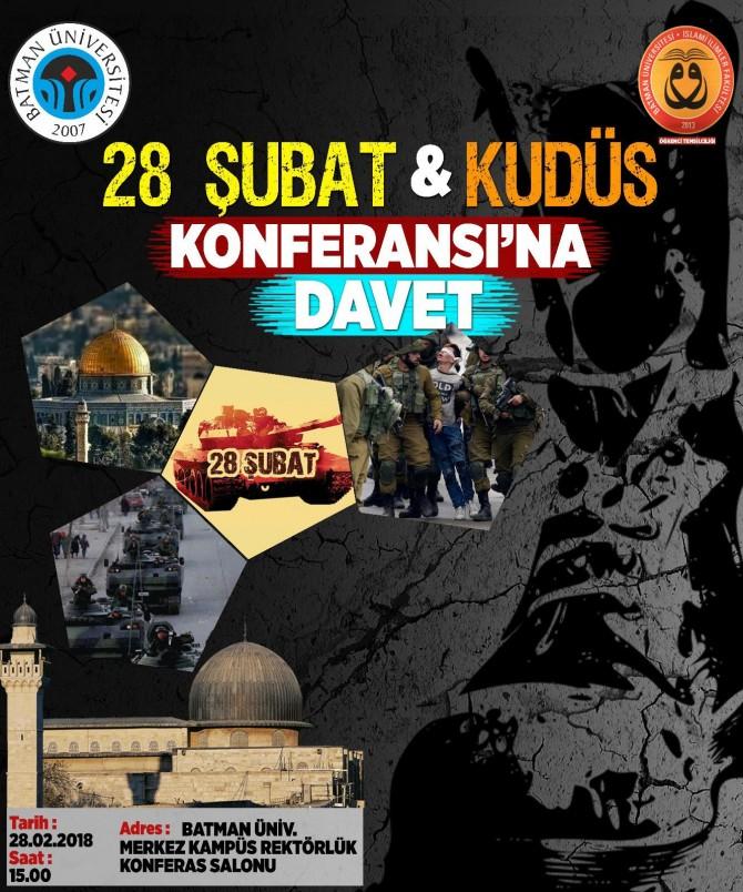 '28 Şubat ve Kudüs' konulu konferansa davet