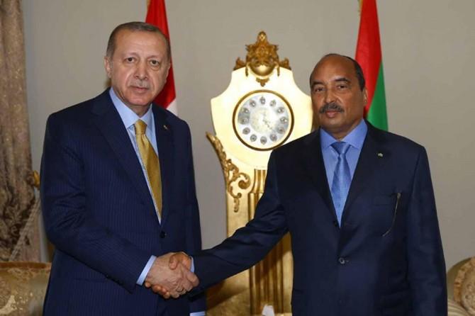 Cumhurbaşkanı Erdoğan Moritanya'da