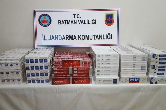 Hasankeyf'te gümrük kaçağı sigara ele geçirildi