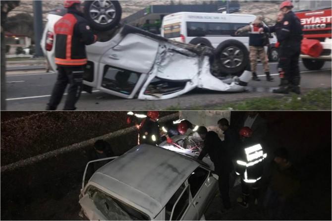 Şanlıurfa'da trafik kazaları: 9 yaralı