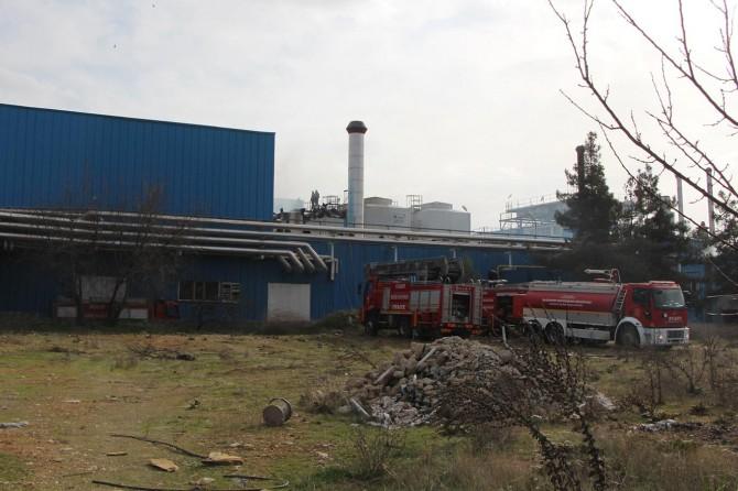 TMSF'ye devredilen fabrikada yangın
