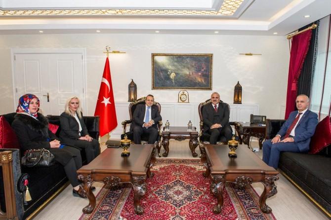 Eski AB Bakanı Egemen Bağış Vali Zorluoğlu'nu ziyaret etti