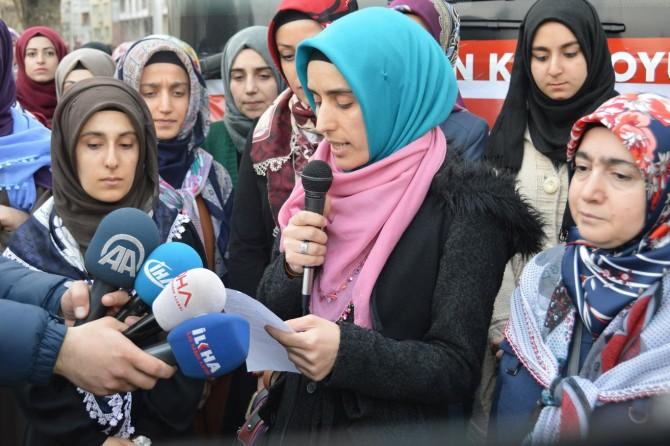 """""""Suriye'deki Müslüman kız kardeşlerimizin acı çığlıklarını duyuyoruz"""""""