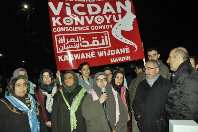 Mardin'den 'Vicdan Konvoyu'na katılım