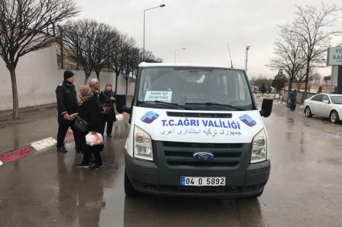 Ağrı-İran sınır kapıları arasında ücretsiz servis uygulaması