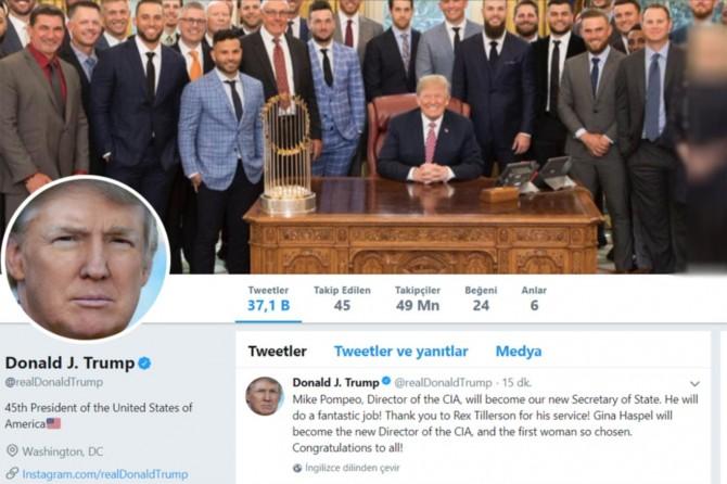 Trump ABD Dışişleri Bakanı Tillerson'ı görevden aldı
