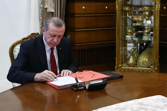 Cumhurbaşkanı Erdoğan'dan kanun onayı ve rektör ataması