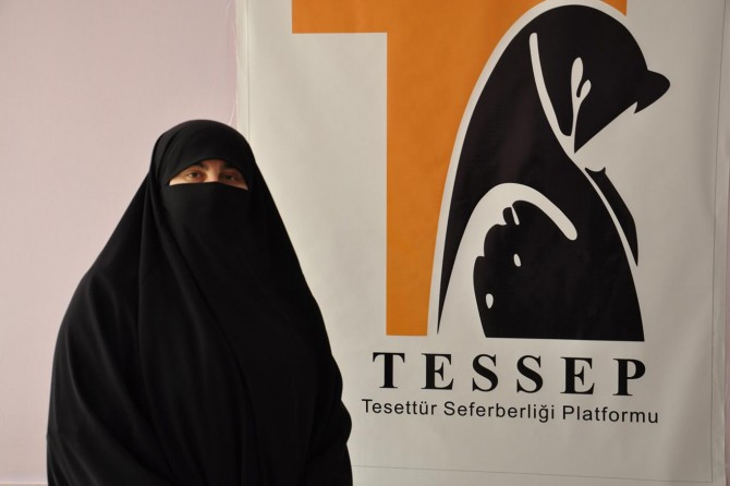TESSEP'ten çarşaflı kadına yönelik saldırıya tepki