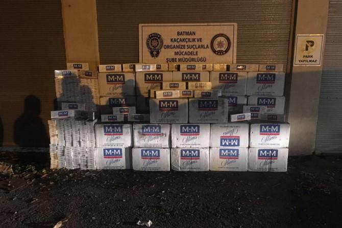 Batman'da 12 bin paket kaçak sigara ele geçirildi