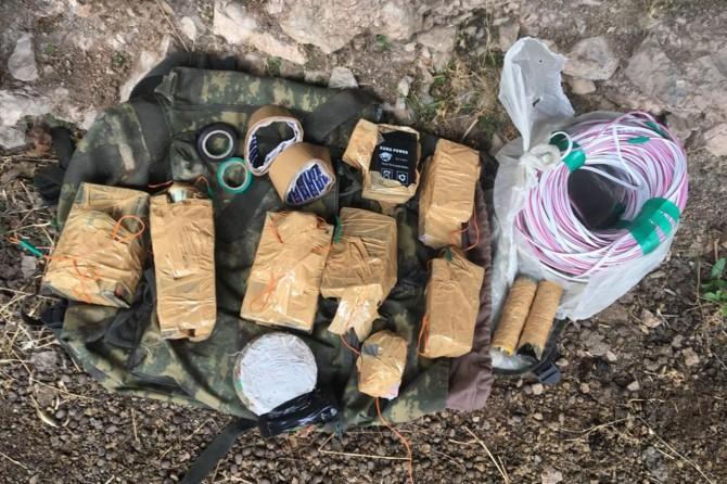 PKK'ye el yapımı patlayıcı malzemeleri ele geçirildi