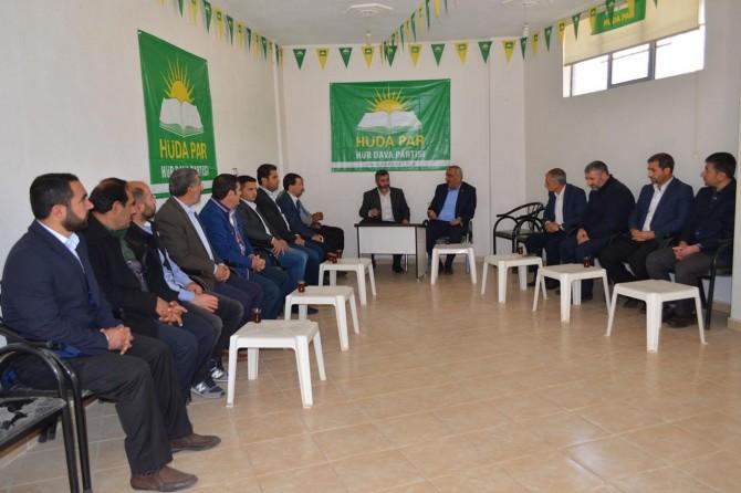 Hilvan Belediye Başkanından HÜDA PAR'a ziyaret