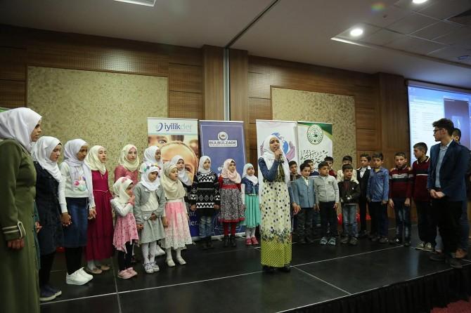 Kur'an eğitimini tamamlayan Suriyelilere sertifika