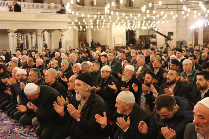 Regaib Kandili Fatih Camii'nde ihya edildi