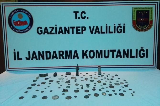 Gaziantep'te 118 parça tarihi eser ele geçirildi