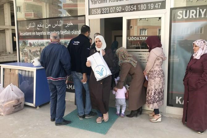 Mardin'deki Suriyeli ailelere yardım
