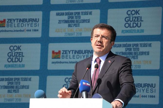 Bakan Zeybekci spor kompleksi açılışına katıldı