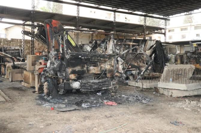 PKK Afrin'i terk ederken halkın malına zarar verdi