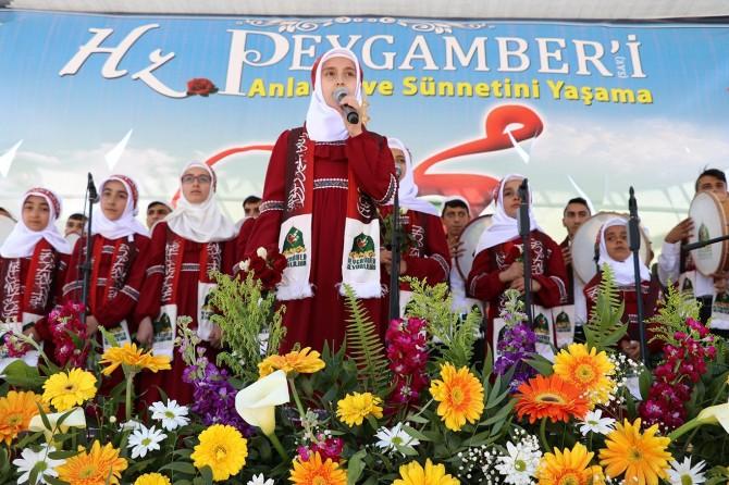 Gaziantep'te on binler Hazreti Muhammed'i andı