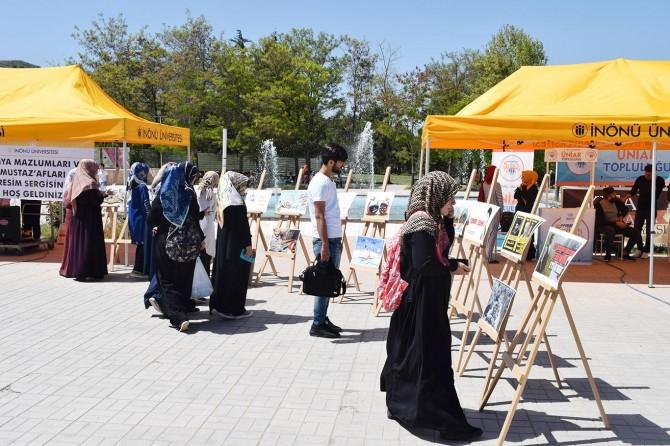 """""""Dünya mazlumları ve Mustazafları"""" resim sergisi açıldı"""