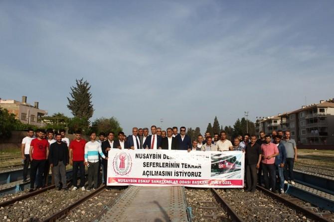 """""""Nusaybin'de tren seferlerinin başlatılmasını istiyoruz"""""""