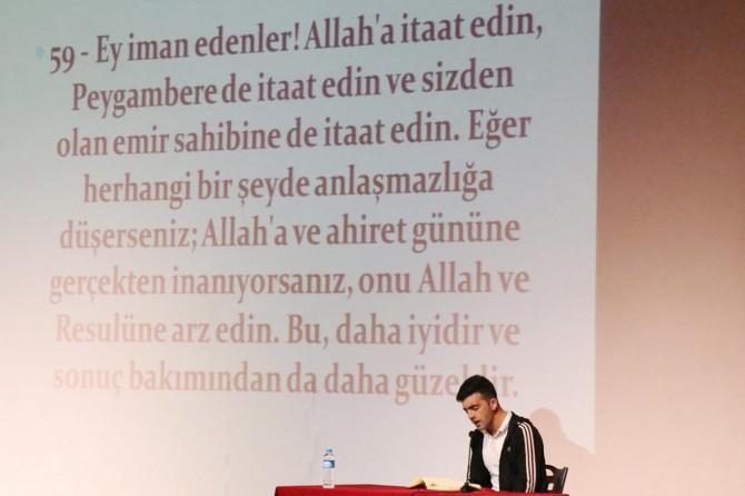 Liseler arası 'Kur'an-ı Kerim'i Yüzünden Güzel Okuma' yarışması yapıldı
