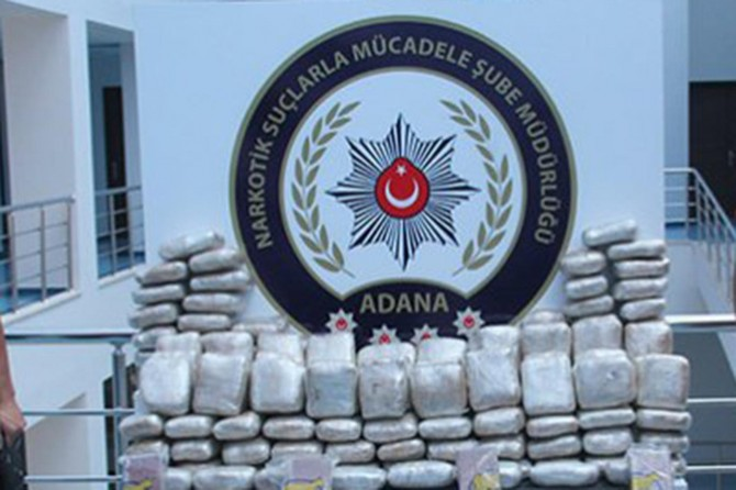 Adana'da 160 kilo eroin ele geçirildi