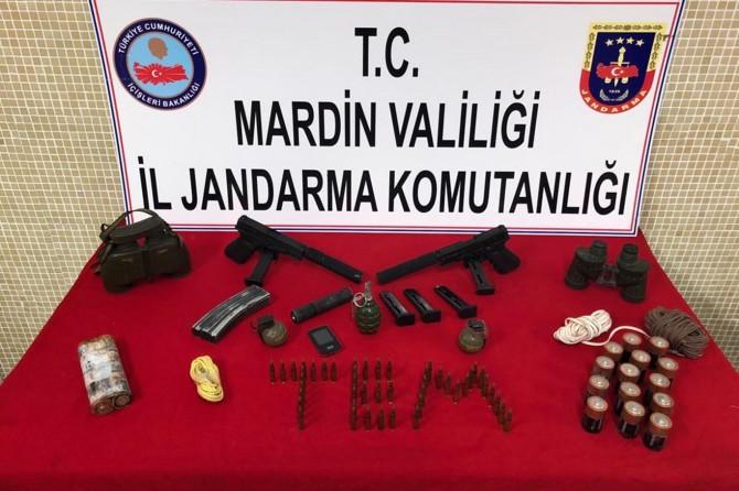 Mardin'de suikast silahları ele geçirildi